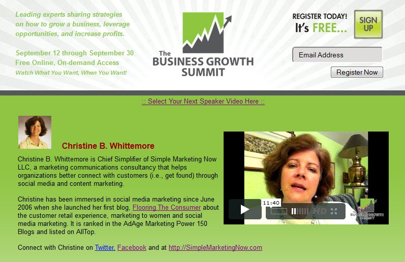 Business Growth Summit 2011 Whittemore