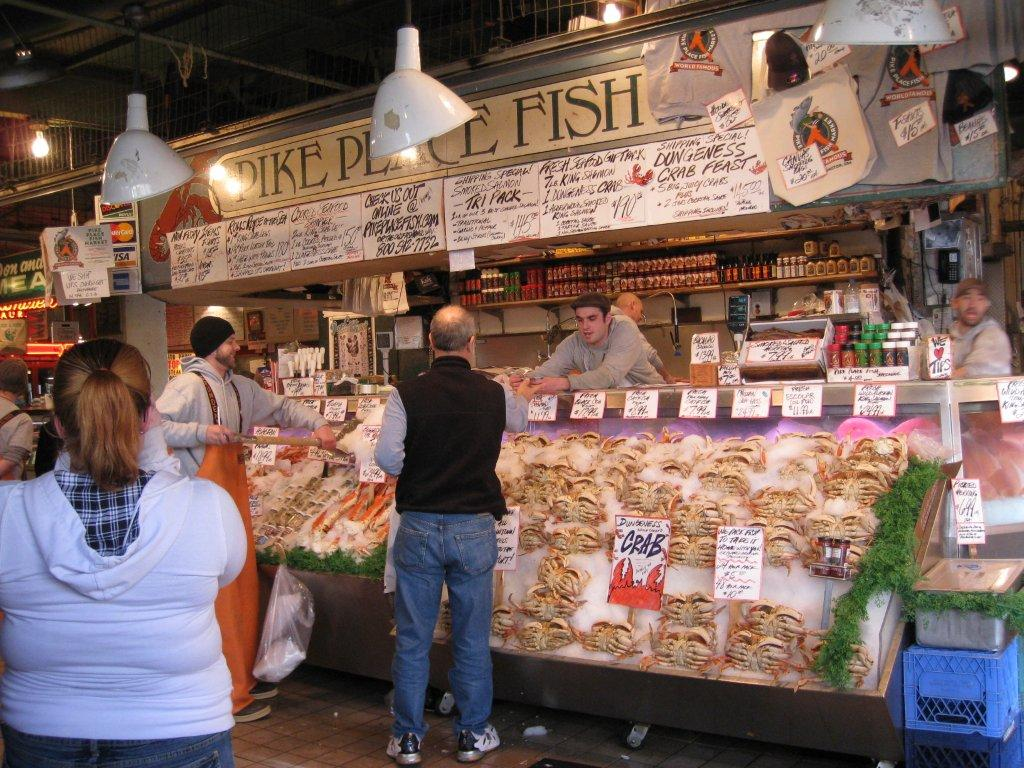 Remarkable customer experience pike place fish market style for Fish market in seattle