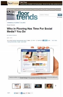 time for social media in flooring